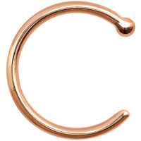 18 Gauge Solid 14KT Rose Gold Nose Hoop - 5/16 | Body Candy Body Jewelry