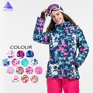 VECTOR Brand Ski Jacket Women Windproof Waterproof  Warm Winter Jackets Outdoor Sport Snow Coat Skiing Snowboarding Clothing