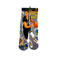 Grey Black Gold #30 Stephen Curry Golden St. Warriors Sock