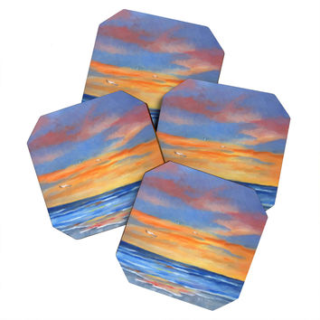 Rosie Brown Sunset Reflections Coaster Set