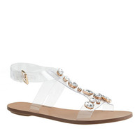 J.Crew Womens Jeweled T-Strap Sandals