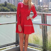 THE LUCKY ONE DRESS , DRESSES, TOPS, BOTTOMS, JACKETS & JUMPERS, ACCESSORIES, SALE, PRE ORDER, NEW ARRIVALS, PLAYSUIT, COLOUR,,LACE,Red,BACKLESS Australia, Queensland, Brisbane