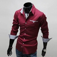 2017 New Fashion Men Shirt