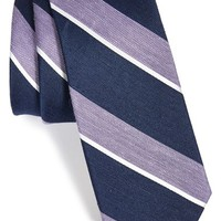 Men's The Tie Bar Stripe Silk Blend Tie (Online Only)