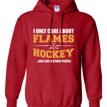 Calgary Flames Hockey Sweater NHL Flames Hockey Mens Birthday Gift Christmas Gift Ultimate Hockey Fan Custom Hoodie Team Pride BD-210