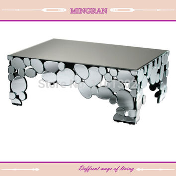 modern mirrored coffee table- mirrored furniture