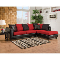 Riverstone Victory Lane Cardinal Microfiber Sectional