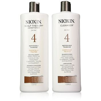 Nioxin System 4 Cleanser And Scalp Therapy Set 33.8 Oz Each