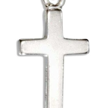 Sterling Silver Small Plain Cross Charm