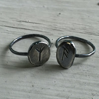 Womens Viking Ring - Silver - Viking Ring - Choose any Rune