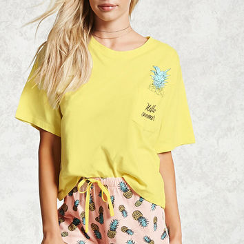 Pineapple Hello Summer PJ Set