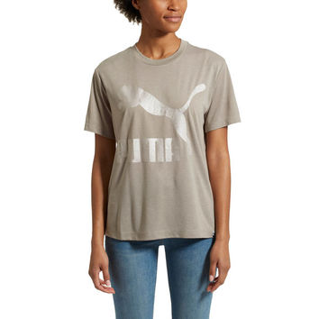 Classics Logo Women's Short Sleeve T-Shirt | Rock Ridge | PUMA Women's $9.99 Tees | PUMA United States