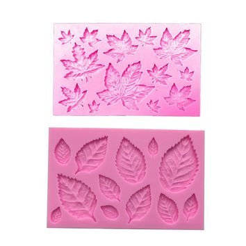 Free shipping Tree leaf leave cooking tool decoration Silicone mold baking Fondant Sugar Craft Molds DIY Cake fimo