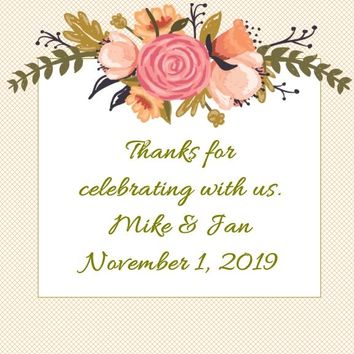 Fall Floral Wedding Stickers