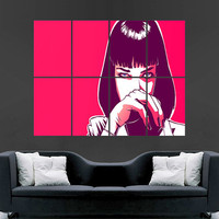 Pulp Fiction movie Mia Wallace art wall large image giant poster