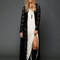 Free People Maxi Lace Jacket