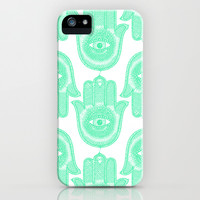 Hamsa  iPhone & iPod Case by Luna Portnoi