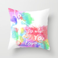 Dance Throw Pillow by Adam Stuart