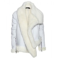 Asymmetric Shearling Jacket  ¦ Haider Ackermann * mytheresa