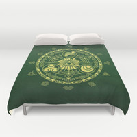 Zelda Triforce Duvet Cover by DavinciArt