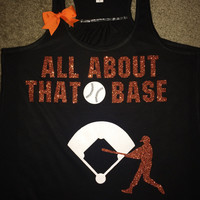 All About That Base - Baseball Tank - Choose Your Colors - Ruffles with Love - Fun Tank