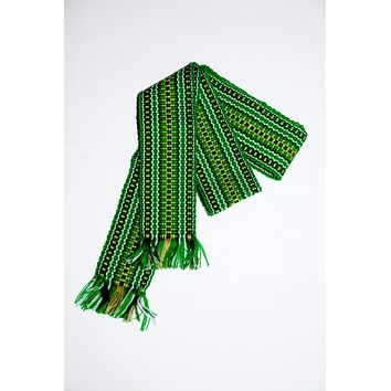 "Ukrainian belt ""Krayka"". Green. Medium"