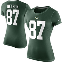 Jordy Nelson Green Bay Packers Nike Women's Player Pride Name & Number T-Shirt - Green