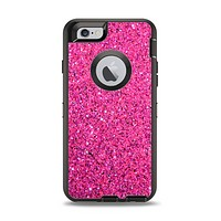 The Pink Sparkly Glitter Ultra Metallic Apple iPhone 6 Otterbox Defender Case Skin Set