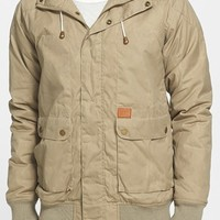 Globe 'Anglesea' Wax Coated Canvas Hooded Bomber Jacket | Nordstrom