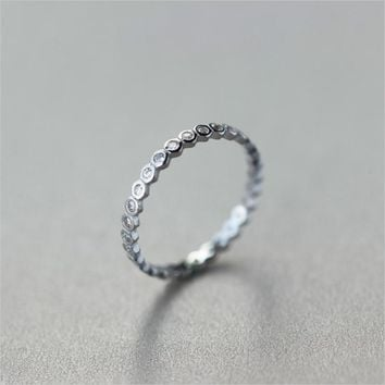 S925 Sterling Silver Personalized Index Finger Ring, Tail Ring J1209  171204