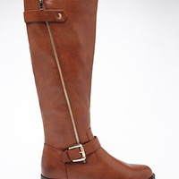 Knee-High Faux Leather Boots