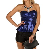Sale-royal Sequin Party Peplum