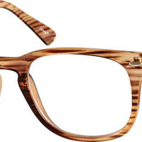Brown Square Acetate Eyeglasses #1234 | Zenni Optical Eyeglasses