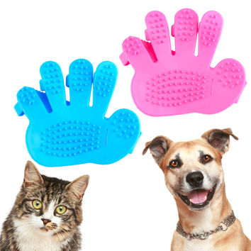 New Cat & Dog Bath Grooming Brush Massage Glove