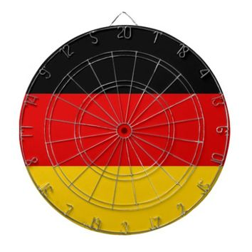 Dartboard with Flag of Germany