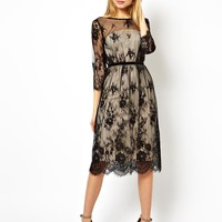 ASOS Pretty Scallop Lace Midi Dress
