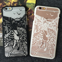 Lace Girl iPhone 5s 5se 6 6s Plus Case Best Solid Cover + Gift Box 407