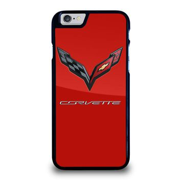 CORVETTE CHEVY LOGO RED iPhone 6 / 6S Case Cover