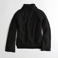 Girls Bell-Sleeve Turtleneck Sweater | Girls Tops | HollisterCo.com