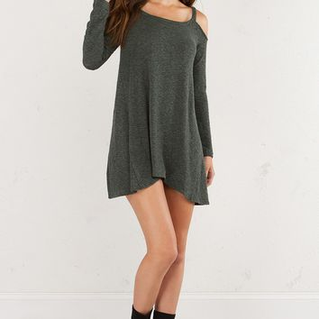 COLD SHOULDER SHIFT DRESS - What's New