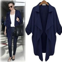 Women's Fashion Slim Coat Stylish Batwing Sleeve Jacket [22458925082]