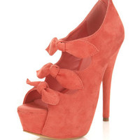 Honor Coral Triple Bow Heel - View All - Going Out