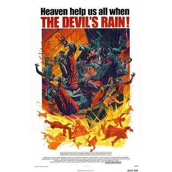 Devils Rain The Movie poster Metal Sign Wall Art 8in x 12in
