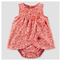 Baby Girls' Ladybug Print Sunsuit Dress Orange/Red - Just One You™ Made by Carter's® : Target