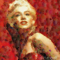 Marilyn Monroe Pop Art Portrait Painting by Zeana Romanovna - Marilyn Monroe Pop Art Portrait Fine Art Prints and Posters for Sale