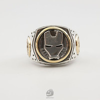 Iron man ring ,925 Silver ring,man ring.