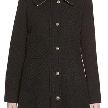 Women's Jessica Simpson Basket Weave Fit & Flare Coat,
