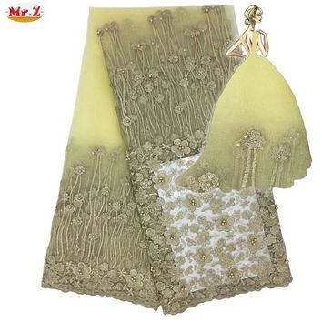 Mr.Z Latest African Laces 2018 White Lace Fabric Nigerian French Lace Fabrics High Quality French Tulle Lace Fabric For Women