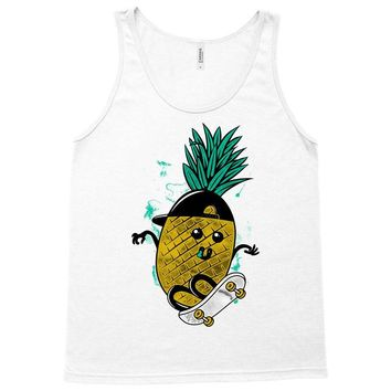 pineapple skateboarding Tank Top