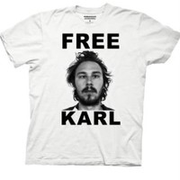 WORKAHOLICS -- FREE KARL -- MENS TEE